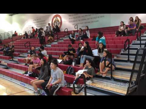 Arcadia High Volleyball Vs John Muir 9-13-16