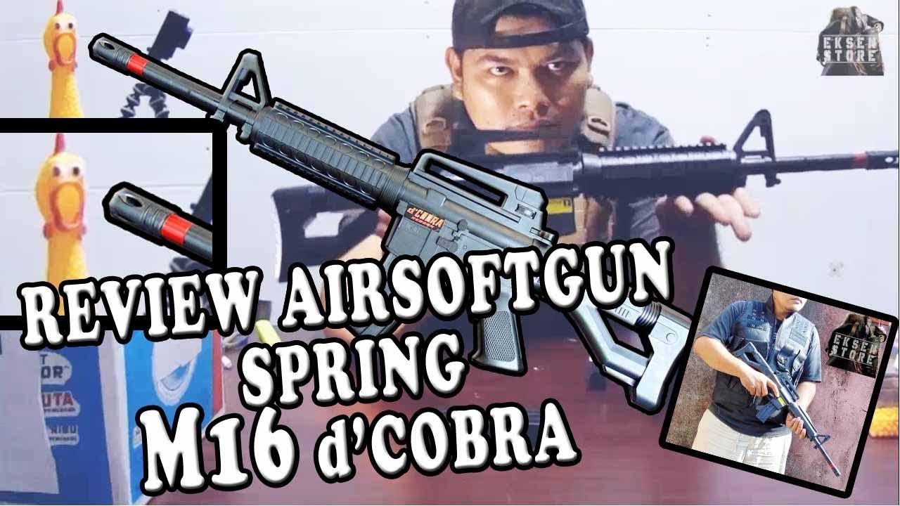 Review Airsoftgun Spring M16 D Cobra Reborn Airsoftgun Airsoftgunspring Dcobra Youtube