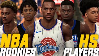 2020 NBA Rookies vs 2020 High School Players On NBA 2K20! Bronny, Mikey Williams & Emoni Bates!