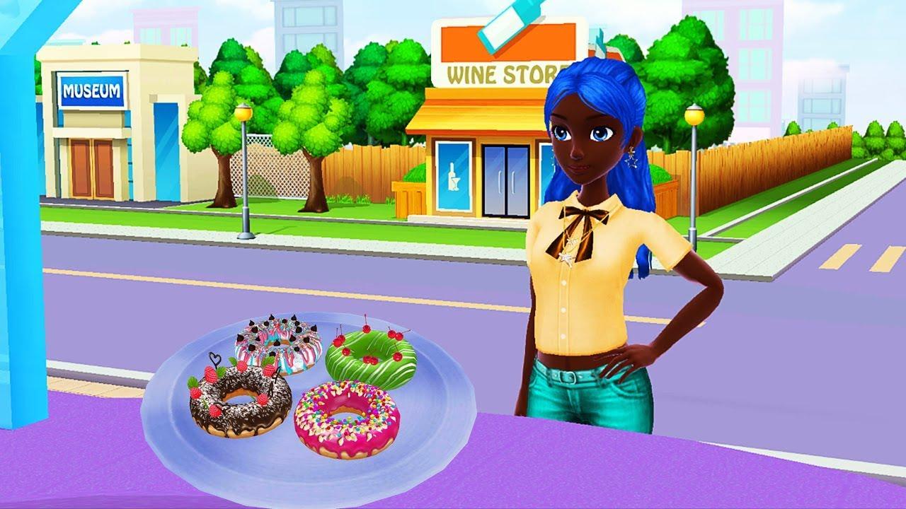 Mở Khóa Cửa Hàng Mới, Làm Bánh Donut Và Bánh Kem Ba Tầng Cho Khách – Game Làm Bánh Vui Nhộn