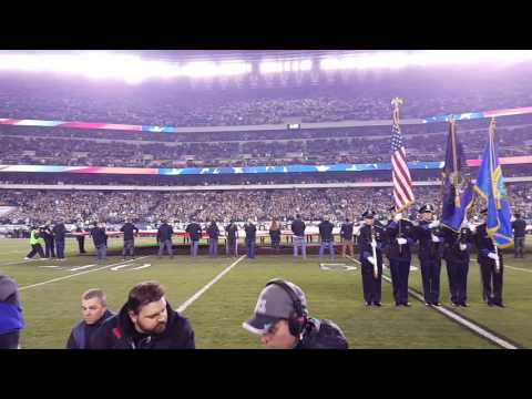 Generald Wilson National Anthem Eagles vs Packers 11/28/2016 MNF