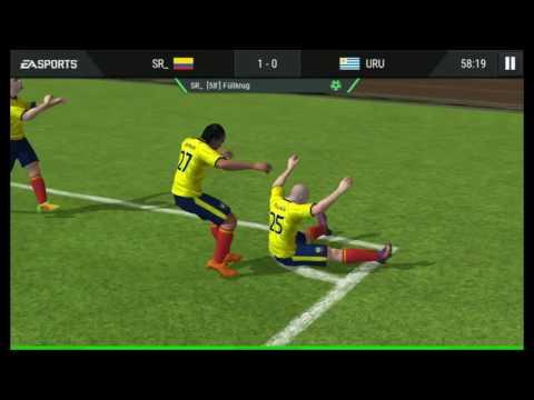 Fifa mobile colombia vs Uruguay