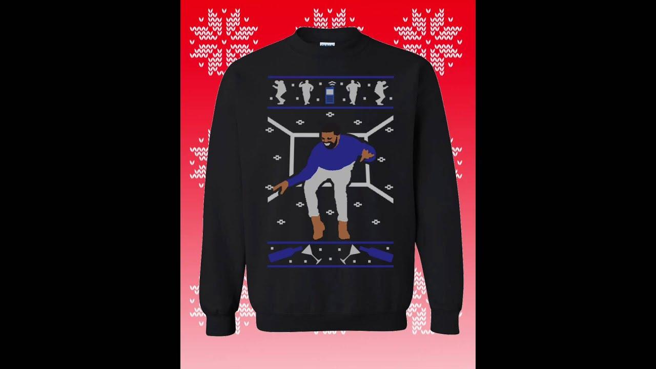 Drake Christmas Sweater 1800 Hotlinebling Sweatshirt 2016 - YouTube