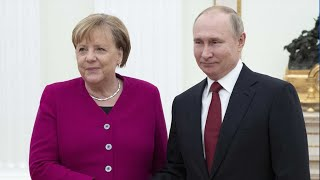 Russian and German leaders discuss Libya, Iran in  Moscow