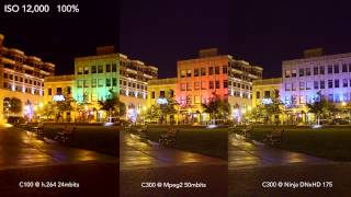 Canon Mpeg2 and H.264 Codecs VS Ninja DNxHD Compression Test