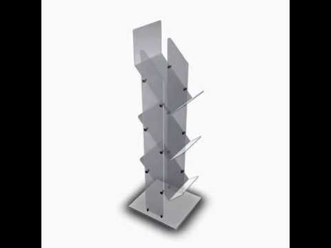 3 Tier Magazine / Newspaper Durable Acrylic Display Stand