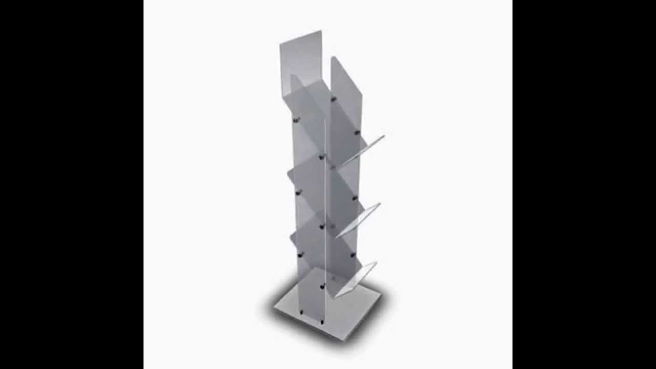 3 Tier Magazine Newspaper Durable Acrylic Display Stand