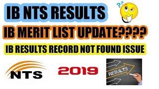 Ib nts result 2019