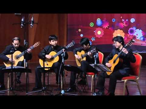 Guitar Quartet - Canon in D (Beijing Philharmonic Guitar Quartet)