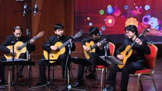 Guitar Quartet - Canon in D (Beijing Philharmonic Guitar Quartet)