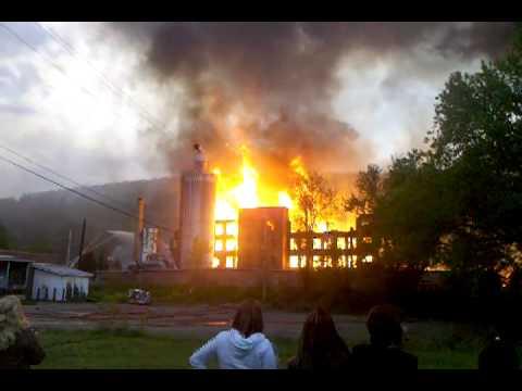 Francher Building Fire in Salamanca, New York