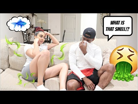 SMELLING LIKE FISH TO SEE HOW MY BOYFRIEND REACTS!!! *Hilarious*