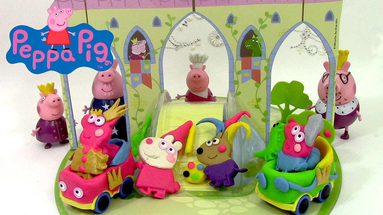 peppa pig castle dough set play doh p te modeler ch teau. Black Bedroom Furniture Sets. Home Design Ideas