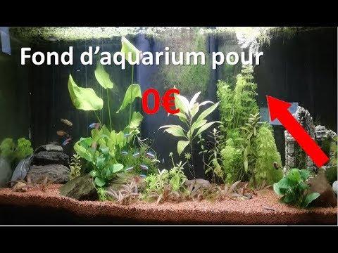 comment faire un fond d 39 aquarium gratuitement youtube. Black Bedroom Furniture Sets. Home Design Ideas