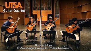 UTSA Guitar Quartet - Danza de Jalisco by Aaron Copland