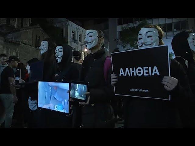 Το zougla.gr στο International Cube Day των Anonymous for the Voiceless στο Μοναστηράκι