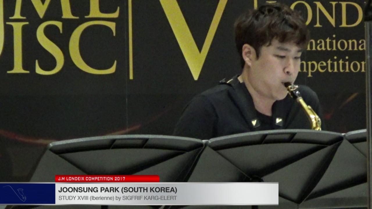 Londeix 2017 - Joonsung Park (South Korea) - XVIII Iberienne by Sigfrid Karg Elert