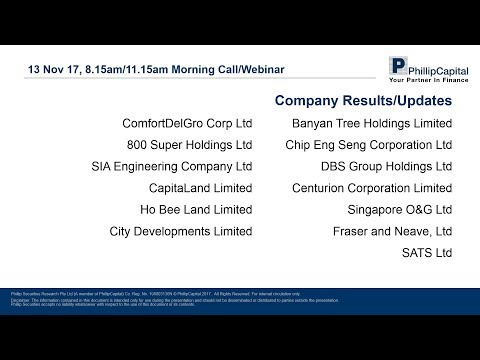 Market Outlook: Singapore Company Results