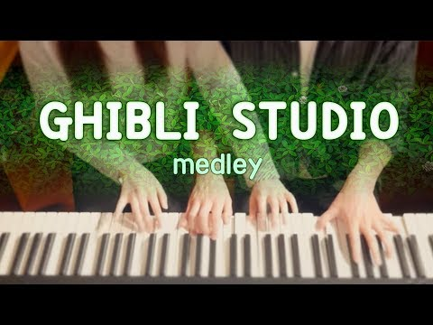 GHIBLI STUDIO Medley - 4hands piano cover