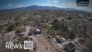 Drone footage shows Cyclone Pam