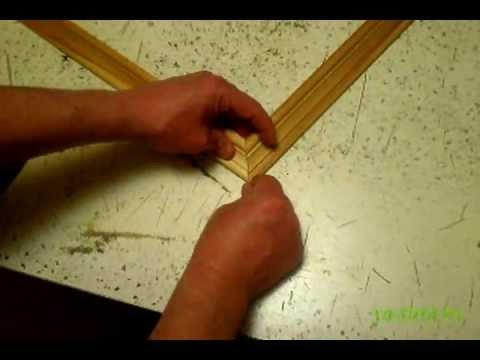 Как правильно запилить угол деревянного плинтуса