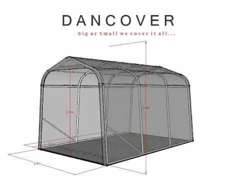 Portable garage shelter size 2.4x3.6x2.4 - YouTube