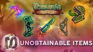 ALL UNOBTAINABLE ITEMS, WEAPONS, NPC'S in Terraria 1.4 Journey's End. First Fractal, NEW FINAL SWORD
