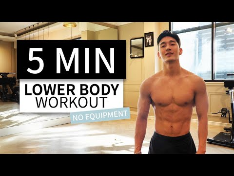 5 MIN LOWER BODY WORKOUT (NO REST TABATA) // No Equipment & Fat Burning | 5분 하체지방 폭파 타바타 운동