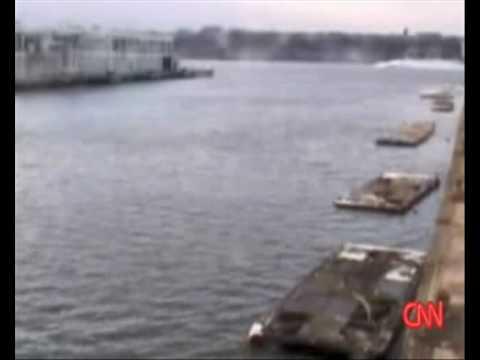 US Airways Flight 1549 911 Calls and Surveillance video