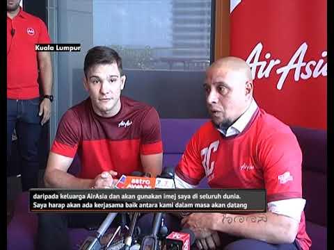 Roberto Carlos dilantik duta global terbaharu AirAsia