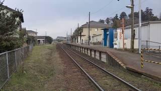 ひっそりとした郊外にある関東鉄道竜ヶ崎線の入地駅の風景