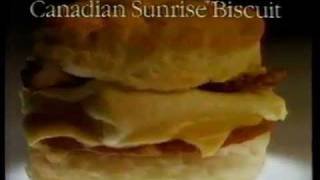"Video 1988 Hardee's Restaurant Commercial ""Canadian Sunrise Biscuit"" download MP3, 3GP, MP4, WEBM, AVI, FLV April 2018"