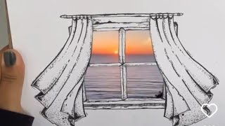 How to draw Window Nature Draw…