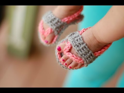 ddf997125 CROCHET TUTORIAL  Baby Flip Flops - YouTube