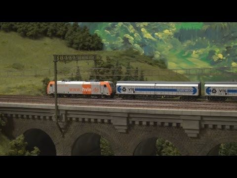 Modellbahn Hausach Schwarzwald - very large model railroad