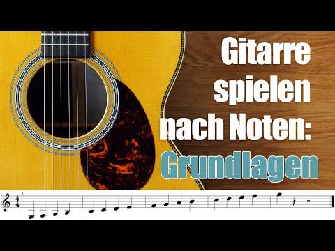 Gitarre Noten Lesen Lernen - Noten Lernen Gitarre 1