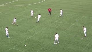 Fussball Training mit der U19 FC Schalke 04 - Passspiel im Kreis
