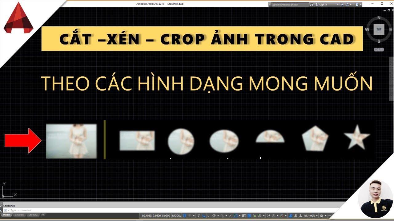 Cắt xén crop ảnh trong autocad // CLIPIT // Extended clip // học autocad