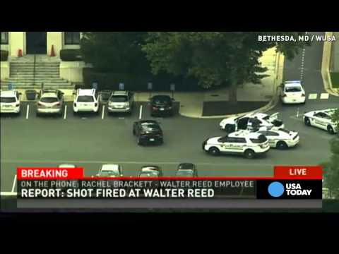 Worker in lockdown at Walter Reed
