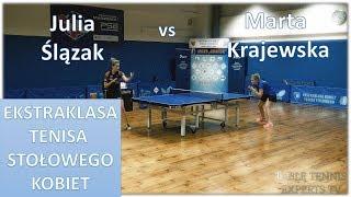 Julia Ślązak vs Marta Krajewska [Table Tennis Full HD] #highlights