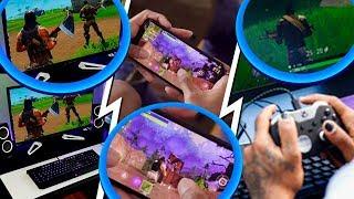 pc vs console vs celular no fortnite