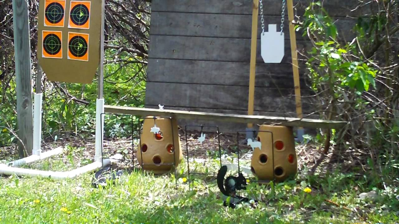 Benjamin Marauder air rifle backyard range - YouTube