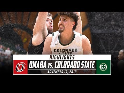 Omaha Vs. Colorado State Basketball Highlights (2019-20) | Stadium