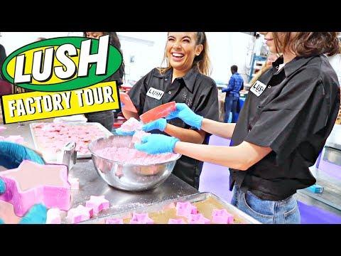 LUSH FACTORY TOUR! How Lush Makes Bath Bombs, Bubble Bars, Massage Bars & MORE! Vancouver, Canada