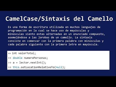 CAMEL CASE (Sintaxis del Camello)
