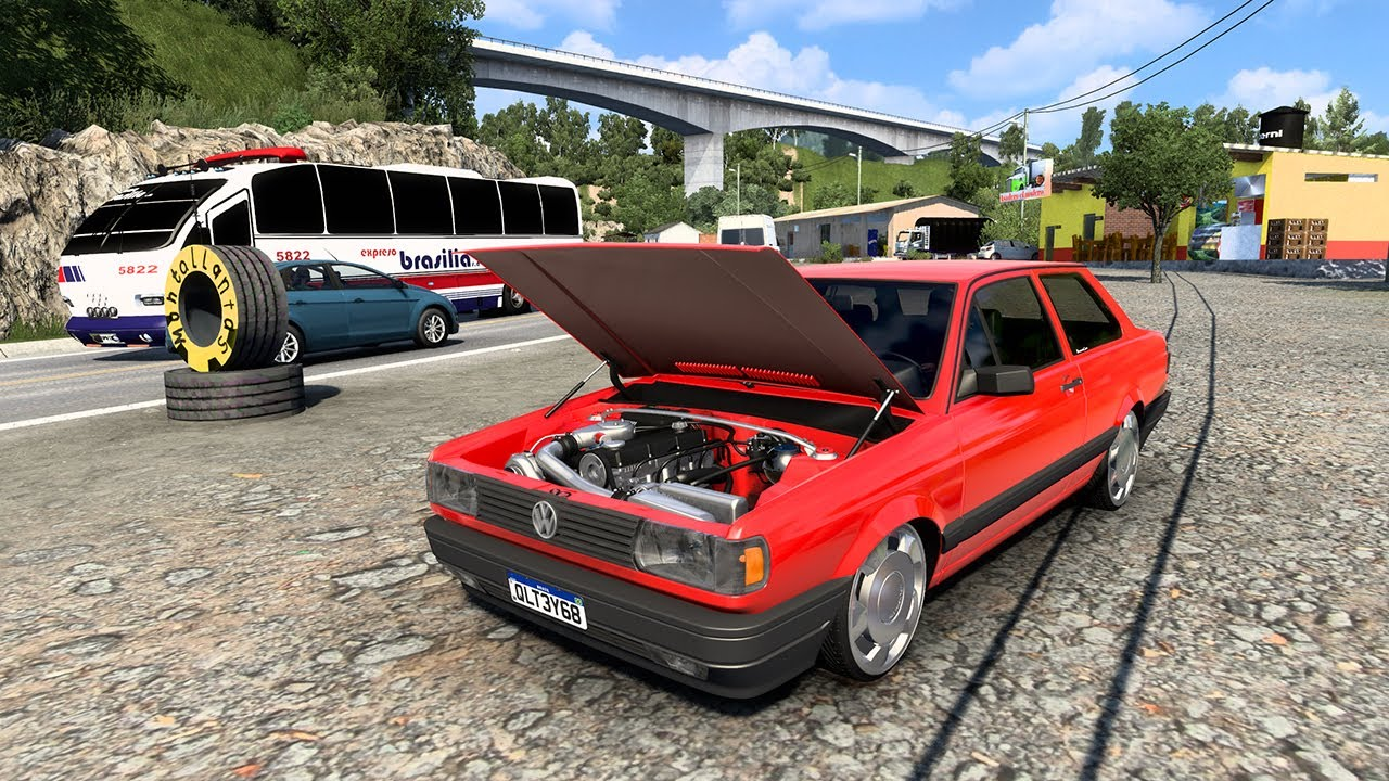 Volkswagen Voyage EL CARRO MAS RAPIDO DE COLOMBIA ETS MODS Alto de la Linea ACCIDENTE
