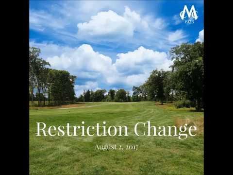 Restrictions Change
