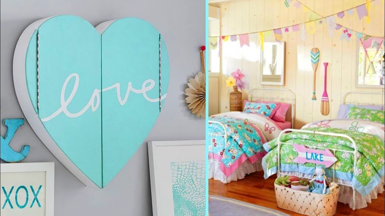 DIY ROOM DECOR 5 Easy Crafts Ideas At Home For Teenagers Minute Girly