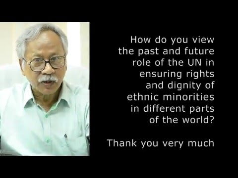 Dr. Dalem Chandra Barman asks UN Secretary-General candidates about ethnic minority rights