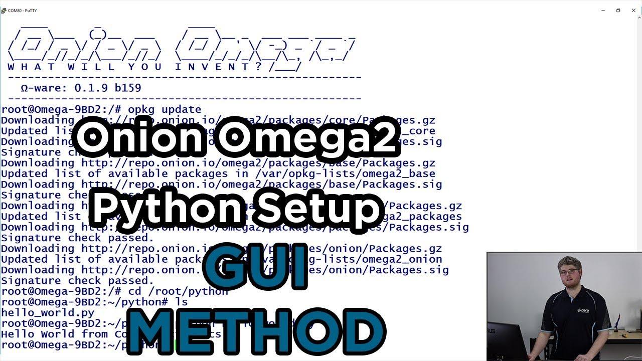 How to Install and Setup Python on Onion Omega 2 via GUI - Video
